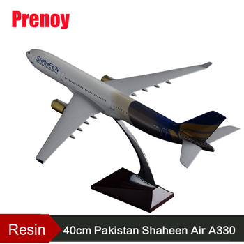 40cm Pakistan Shaheen A330 Air Airbus Model Airplane Airways Resin Pakistan Aircraft Model Aviation Stand Craft Gift Collection