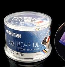 Bluray полноценно ритэк bd-r dl упак. печать скорость слой диск двойной