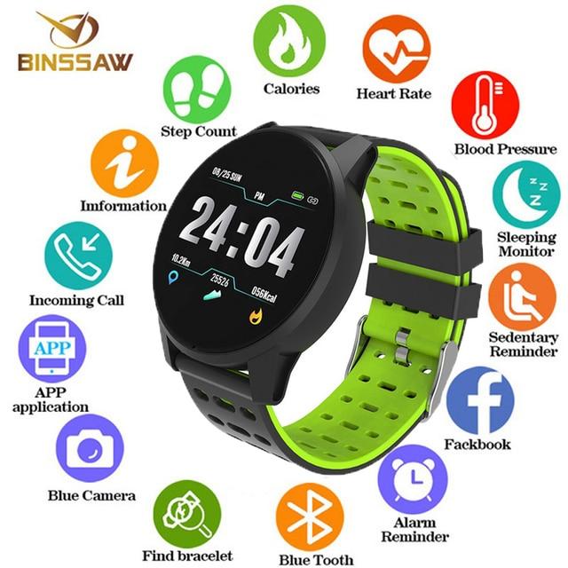 Montre numérique homme, Sport, à la mode, montre intelligente hommes femmes, podomètre, avec moniteur de fréquence cardiaque, montre intelligente pour Android et ios, 2019
