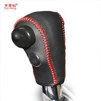 Case For Honda CRV 07 11 Automatic Gear Cover Genuine Leather Gearshift Cover DIY Auto Interior