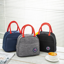 Oxford Lancheira Mulheres Portable Metal Zipper Insulation Lunch Bag Spring New Cloth Multi-Function