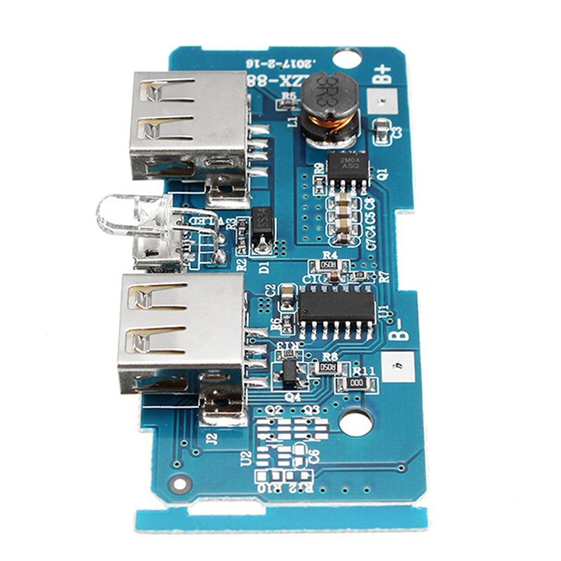 DIY Circuits 3.7V To 5V 1A 2A Boost Module DIY Power Bank Mainboard Circuit Board Dual USB Charging Mobile Phone Circuits