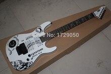 Chinesischen musikinstrumente Fabrik benutzerdefinierte 2015 Neue Ankunft E SP Custom Shop KH-2 Weiße E-gitarre Auf Lager 218