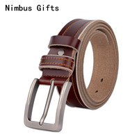Nimbus Gifts NEW Fashion New Male Belt For Mens High Grade Cow Genuine Leather Belts 2017