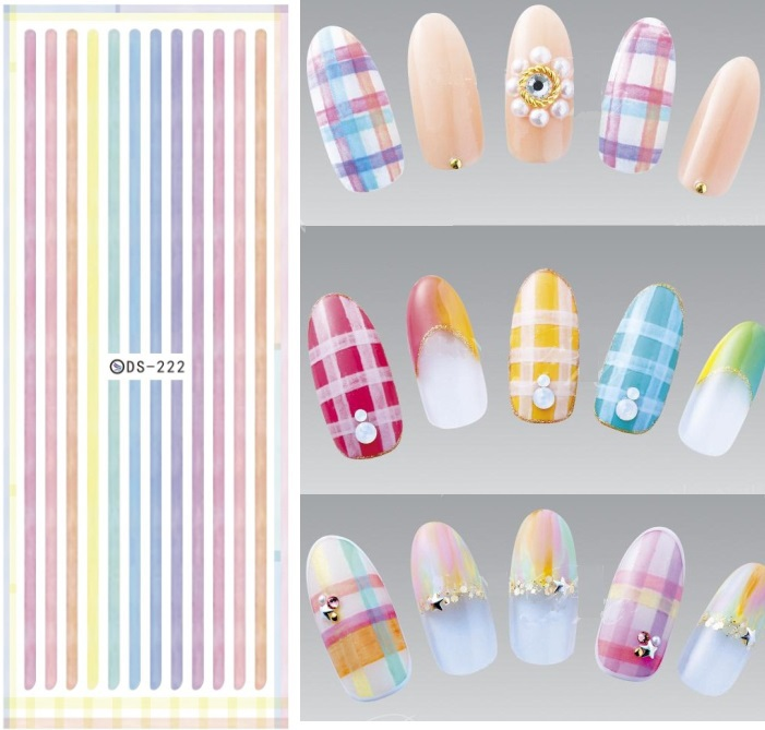 World Map Nail Art Old Stickers