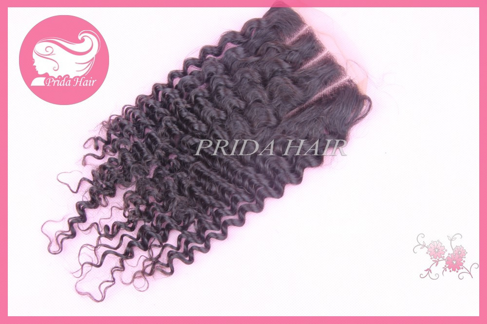 7א המלזי קינקי מתולתל תחרה סגירת מעגל-חלק 3 סגר 4x4 המלזי שיער מתולתל סגירת החלק האמצעי תחרה קדמית סגירת מעגל.