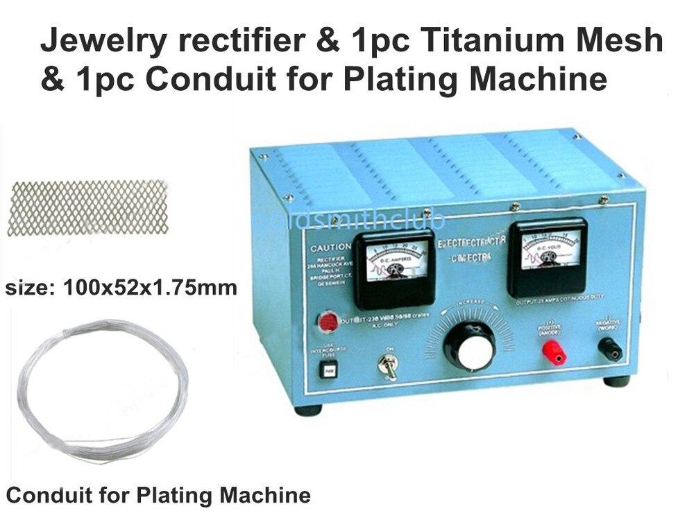 Machine de galvanoplastie de bijoux et une pièce maille de titane et 1 pc Conduit pour la Machine de placage, machine de placage de bijoux