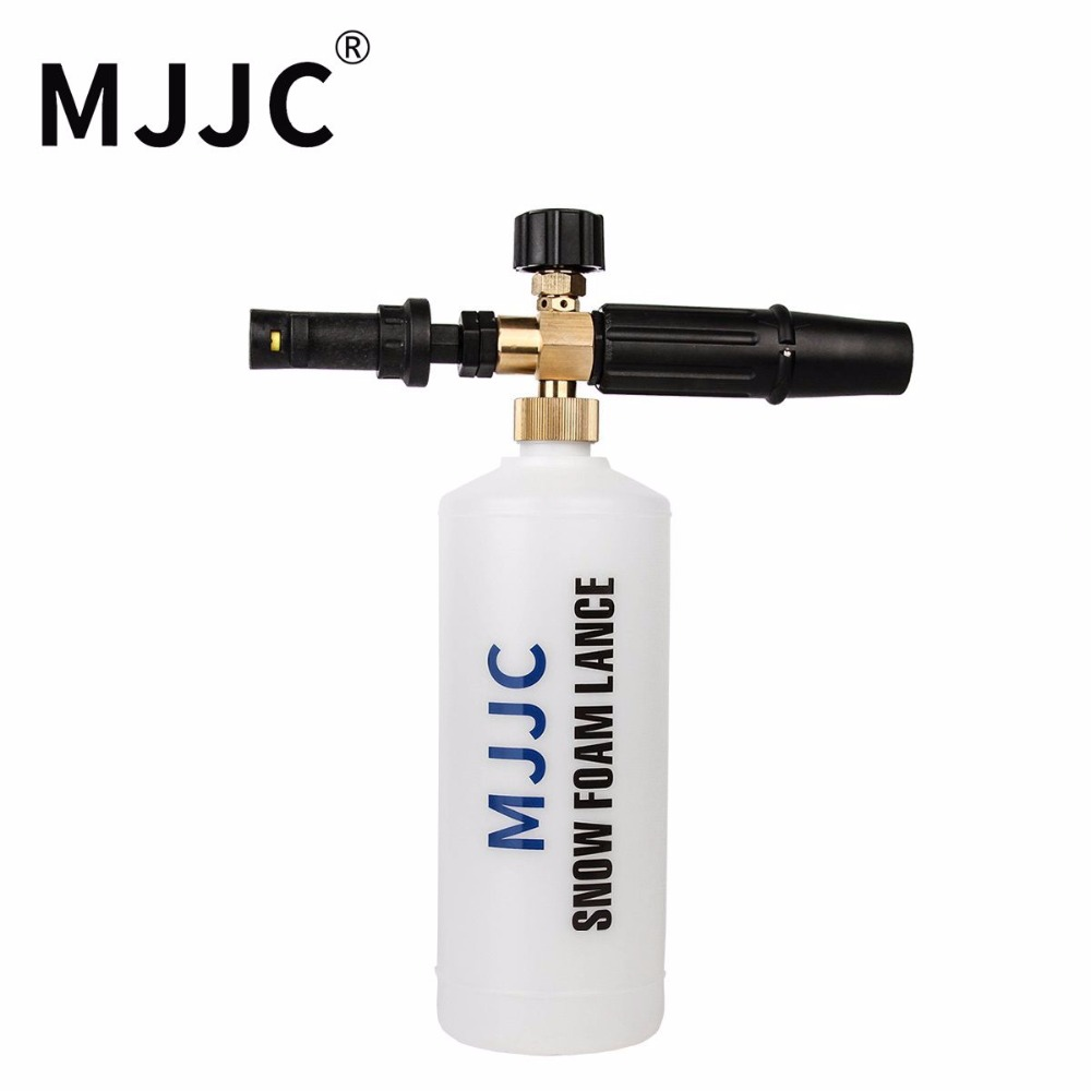 MJJC Brand 2017 with High Quality Snow Foam Lance with adapter and connection tube, please select the correct adapter mjjc brand foam lance for karcher 5 units package free shipping 2017 with high quality automobiles accessory
