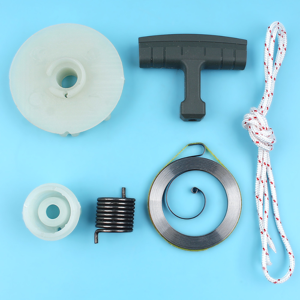 Recoil Starter Handle Grip Pulley Spring Hub Rope Kit For Husqvarna 137 142 235 236 240 E Chainsaw Replacement Spare Parts