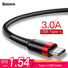 Baseus 3A Fast Charging USB Type C Cable For Samsung S9 Note 9 USBC Type-c Cable For One Plus 5 6 6t Xiaomi Mix 3 USB-C Charger