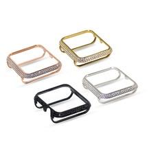 18kt bling platinum со стразами ювелирные изделия с бриллиантами чехол ободок Обложка для мм Apple Watch 38 мм 42 серии 3 2 1