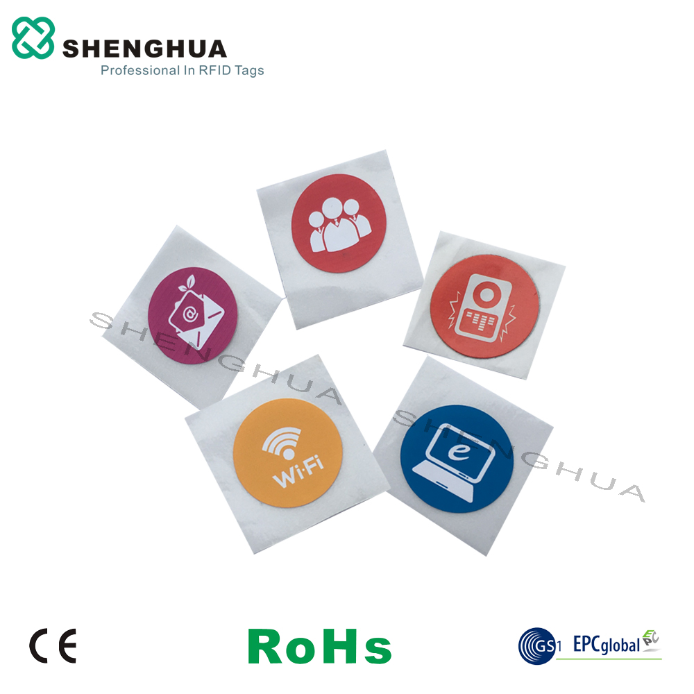 6pcs/pack Color Printing NFC Tag 13.56MHz Passive RFID Label Sticker Low Cost Good Performance For Mobile Phone Payment Access