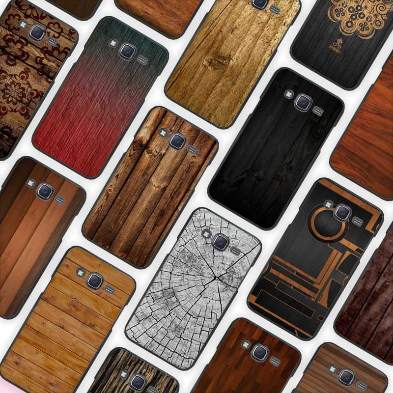 texture wood Black Case Cover Shell Protective for Samsung Galaxy J1 J2 J3 J5 J7 2016 2017