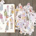 100 шт. модные умные бумажные наклейки для девочек Kawaii Канцтовары DIY Скрапбукинг открытки украшения самоклеющиеся печатные этикетки