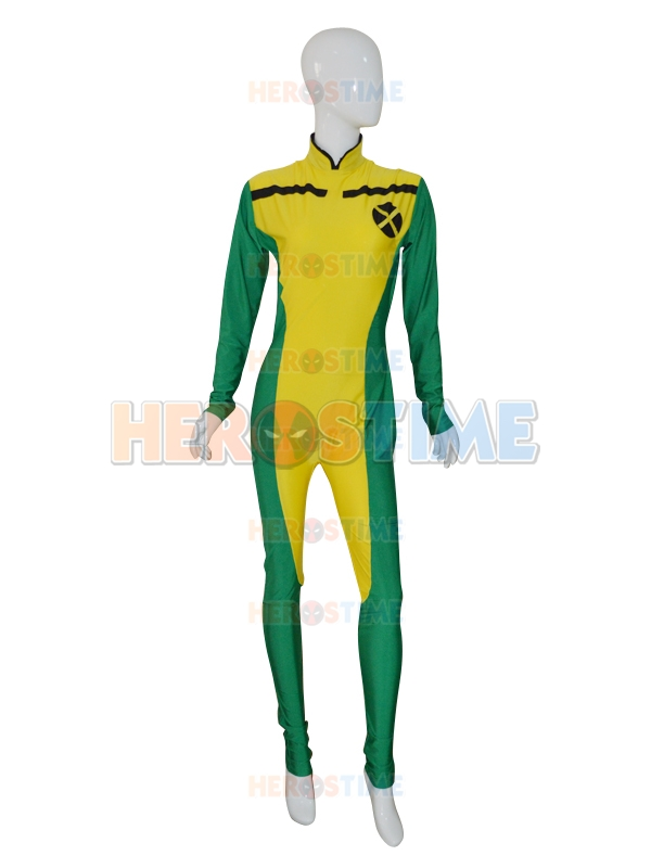 New X-men Rogue Costume Spandex Lycra Female Superhero Costume For Halloween Cosplay Hot Sale Zentai Suit Free Shipping
