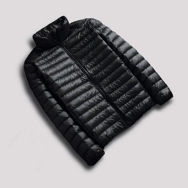 Packable Jacetion hombres Abajo Chaqueta Globo Ligero Pato Blanco Abajo Abrigo de invierno chaqueta de los Hombres hombres chaqueta abajo