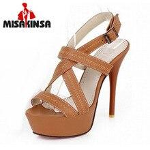 34 43 Sexy Cross tie Open toe Gladiator Sandals 2016 Red Bottoms High Heels Platform Shoes