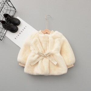 Image 4 - Chaqueta y abrigo de invierno para bebés y niñas ropa de invierno de piel sintética, abrigo cálido para bebés, ropa de abrigo para bebés