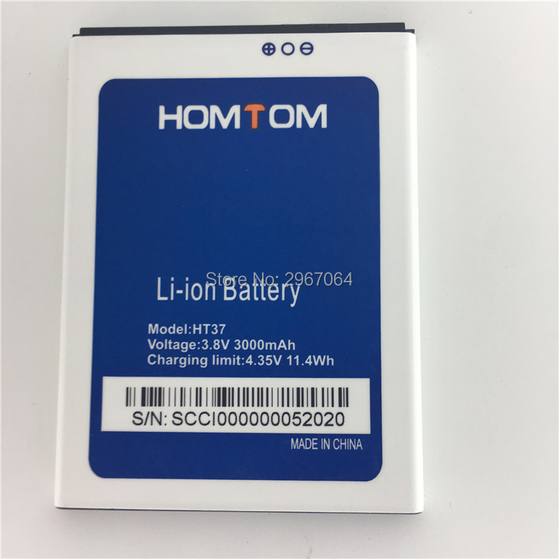 100% Original battery HOMTOM HT37 battery 3000mAh Mobile phone battery Long standby time Test normal use before shipment