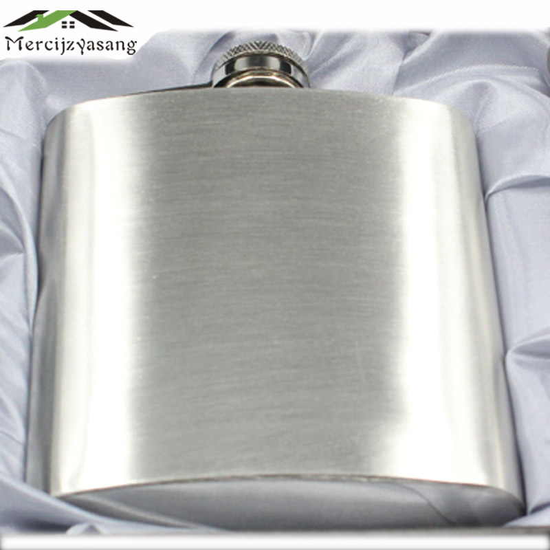 5PCS/LOT Metal hip flasks portable flagon stainless steel gifts travel silver whiskey alcohol liquor bottle Male Mini Bottles