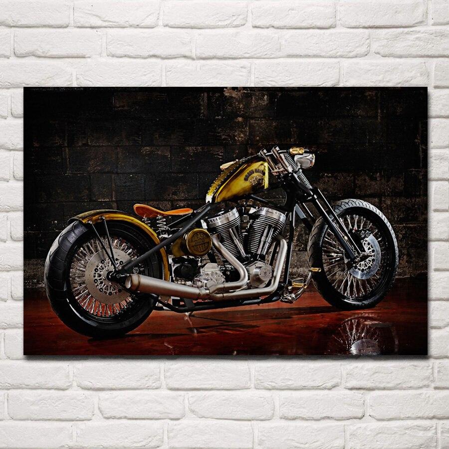 Us 7 67 36 Off Custom Chopper Motorbike Tuning Bike Hot Rod Rods Motorcycle Ka277 Room Home Wall Modern Art Decor Wood Frame Poster In Painting