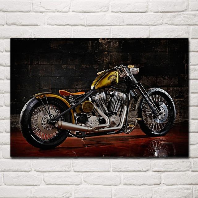 Custom Chopper Motorbike Tuning Bike Hot Rod Rods Motorcycle Ka277 Room Home Wall Modern Art Decor Wood Frame Poster