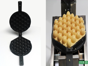 Image 2 - directly factory price egg waffle machine mould bubble waffle baking pan iron Eggettes  mold Non stick Plate