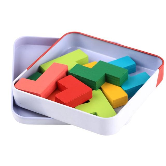 JaheerToy Tetris bébé jouets pour enfants Montessori jouet éducatif bois Tangram Puzzle conseil intelligent