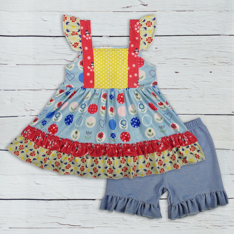 atacado criancas roupa desgaste boutique do bebe meninas sem mangas roupas de verao conjuntos de