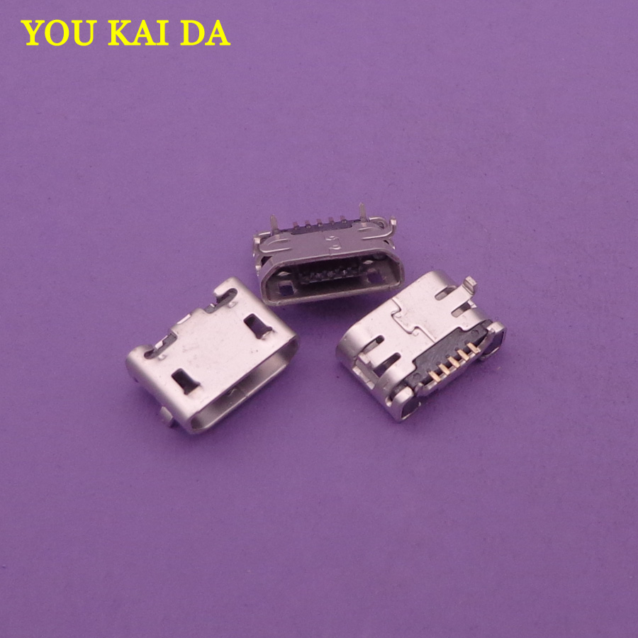 2pcs 5 pin micro mini USB jack socket type-B Charge port Connector 5-pin for <font><b>Sony</b></font> D2004,<font><b>D2005</b></font>,D2104,D2105 <font><b>Xperia</b></font> <font><b>E1</b></font> DS,D2114 TV image