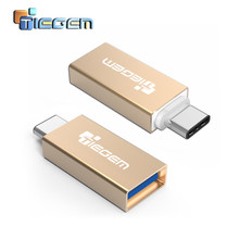 TIEGEM USB 3.1 Type C Male to USB 3.0 A Female Converter Adapter OTG Function for ZUK Z1 Z2 OnePlus 2 For Huawei P9 For Xiaomi 5