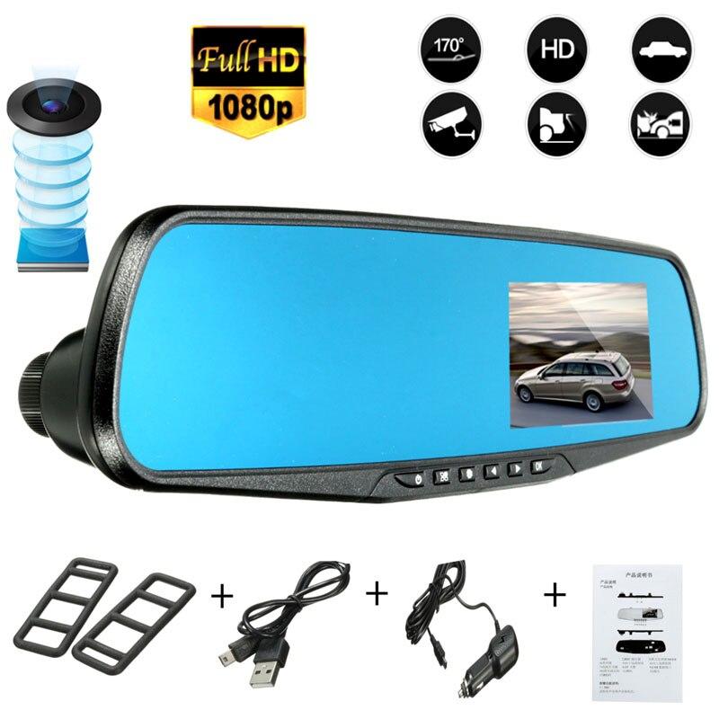 2,8 zoll Dash Kamera Auto DVR 1080 p HD Nachtsicht Auto DVR Blau Überprüfung Spiegel DVR Digital Video Recorder auto Camcorder Dash Cam