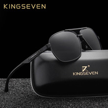 KINGSEVEN New Aluminum Brand New Polarized Sunglasses Men Fashion Sun Glasses Travel Driving Male Eyewear Oculos N7188
