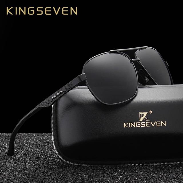 f7b3d8e7ae2ea KINGSEVEN Nova Marca Novos Óculos Polarizados Óculos De Sol Dos Homens  Óculos de Sol Da Moda