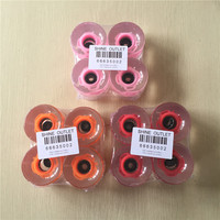 60X45mm Transparent 80A PU Longboard Wheels LED with Magnetic Core Flashing Wheels for Street Cruiser Board