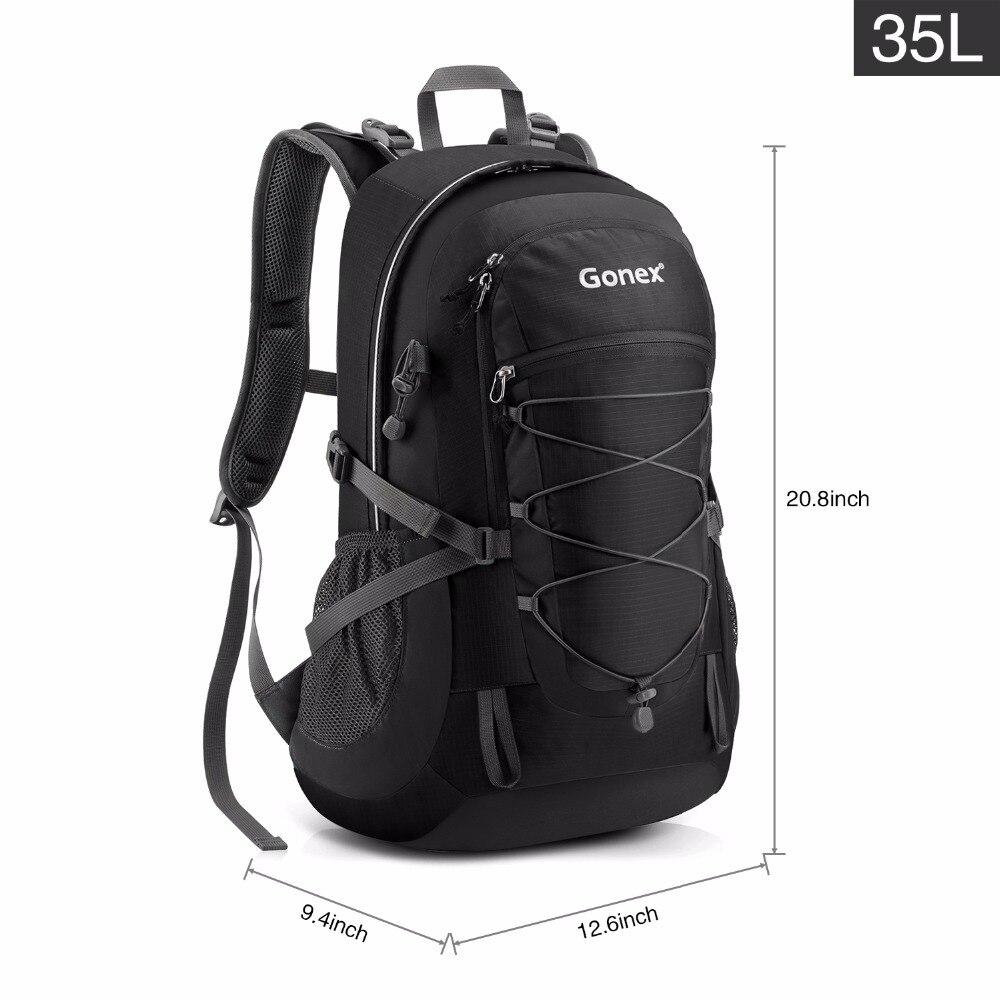 Gonex 35L sac à dos randonnée Camping extérieur Trekking sac à dos housse de pluie incluse Nylon résistant à l'eau - 6