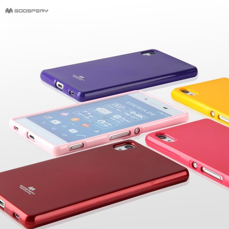 Original Goospery Candy Soft Silicone Shockproof Case for Sony Xperia XA XA1 XZ XZ1 X Compact M5 M4 Aqua Phone Cases Capa cover