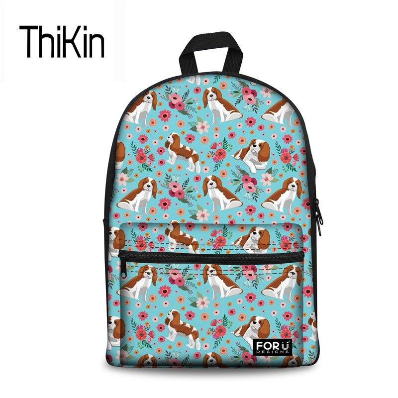 THIKIN Kpop школьная сумка для детей милые собаки печати школьный Для женщин Брендовая Дизайнерская обувь студенты большой рюкзак леди Эскуэла ...
