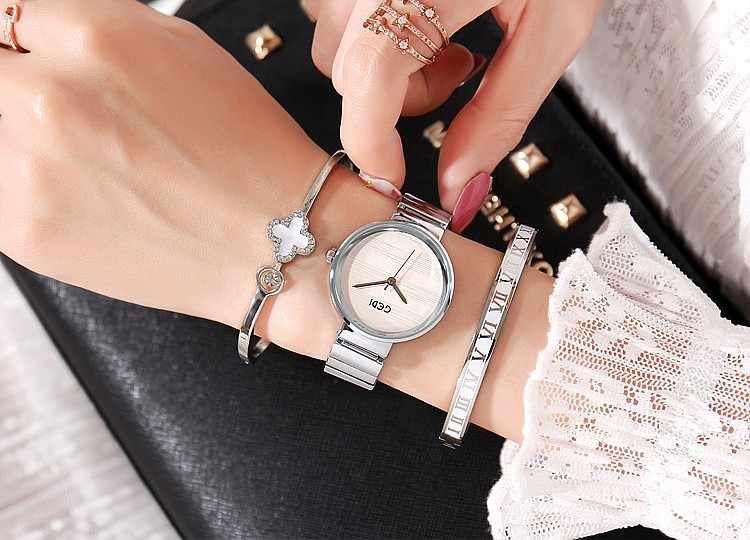 2019 GEDI Fashion Rose Gold Silver Women Watches Top Luxury Brand Ladies Quartz Watch 3 Pieces Watch Relogio Feminino Hodinky
