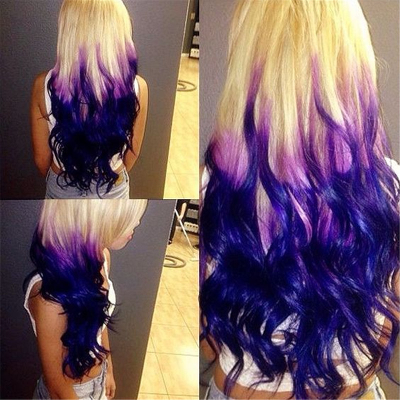 Miraculous How To Do Ombre Hair With Three Colors Short Hairstyles Gunalazisus