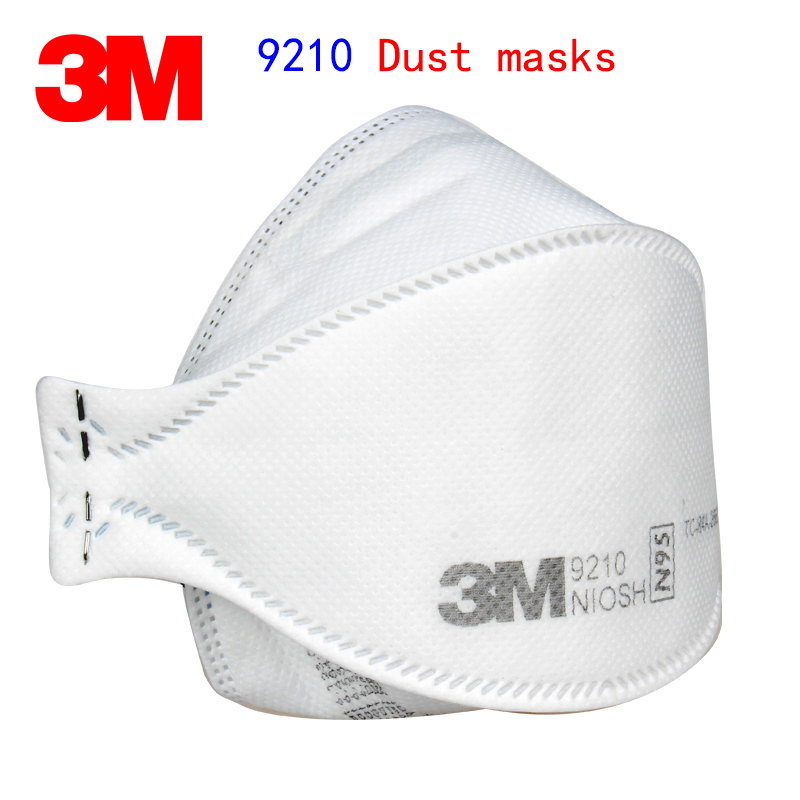 3M 9210 N95 Respirator Dust Mask Folding Efficient Respirator Mask Against Dust Particles Fiber Dust PM2.5 Filter Mask