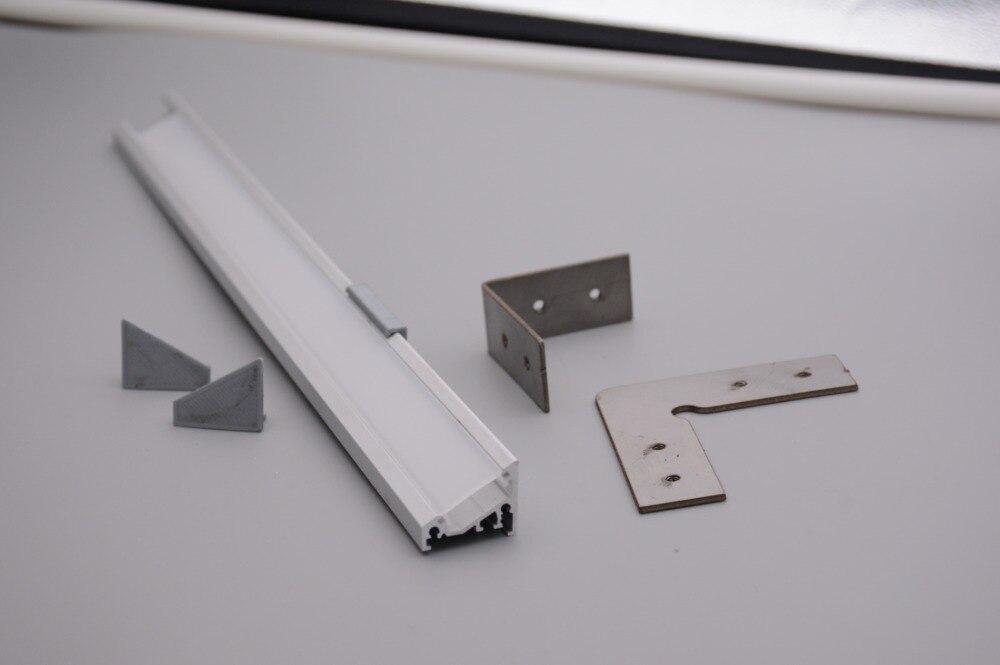 Profilé en aluminium LED d'angle pour ampoules LED