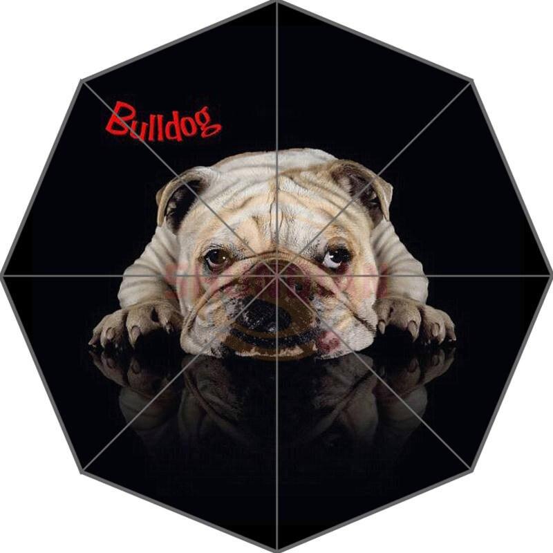 Heißer Benutzerdefinierte Bulldog Besten Nizza-kühler Entwurf Tragbare Mode Stilvolle Nützliche Faltbarer Regenschirm Gute Geschenkidee! Freies Verschiffen U9876544 Hell In Farbe
