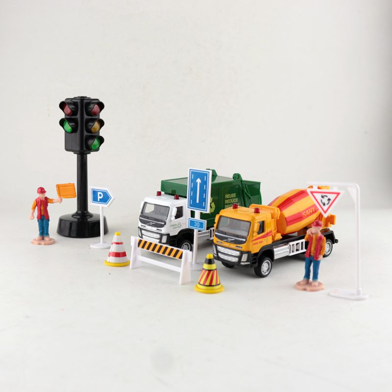 Free Shipping/Diecast Metal Toy Model/1:72 Scale Volvo Mixer Garbage Truck/Gift Set Car/Pull Back/Educational Collection/Kid image