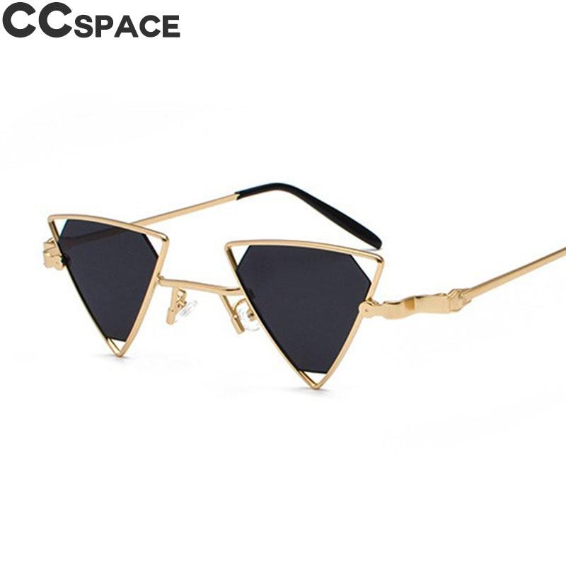 1e36e6ee8c 47712 Small Cateye Retro Sexy Sunglasses 2018 Triangle Cute Sexy Cat Eye  Steam Punk Men Women Metal Frame Trending Styles UV400
