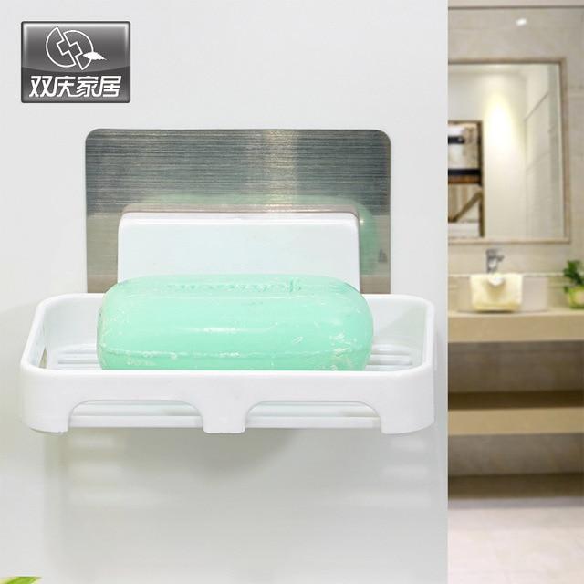 1 Pcs Storage Rack Wall Mounted Shower Soap Shampoo Holder Space Soap Dish  Basket Wall