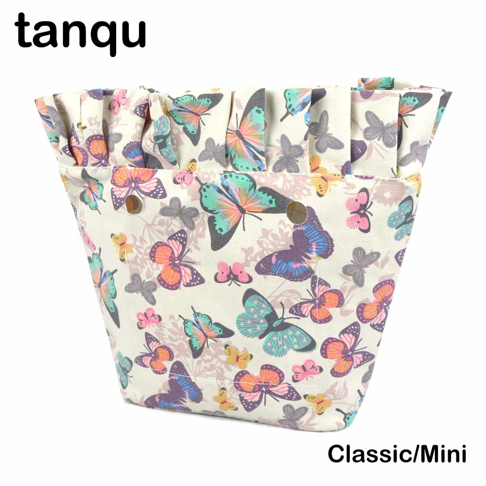 tanqu New Classic Mini Colorful Zip-up Frill Pleat Ruffle Inner Lining Insert for Big Mini Obag Canvas Inner Pocket for O Bag grid pattern rib insert zip up jacket