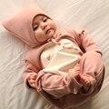 Outono e inverno bebê romper + chapéu terno espessamento totoro falhar veludo terno vestido roupas de manga longa subida macacão