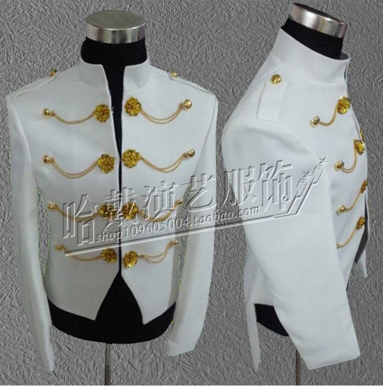 New Arrival ! G-dragon Bigbang men singers slim white Tuxedos Vogue Palace style Groomsmen Men wedding dress