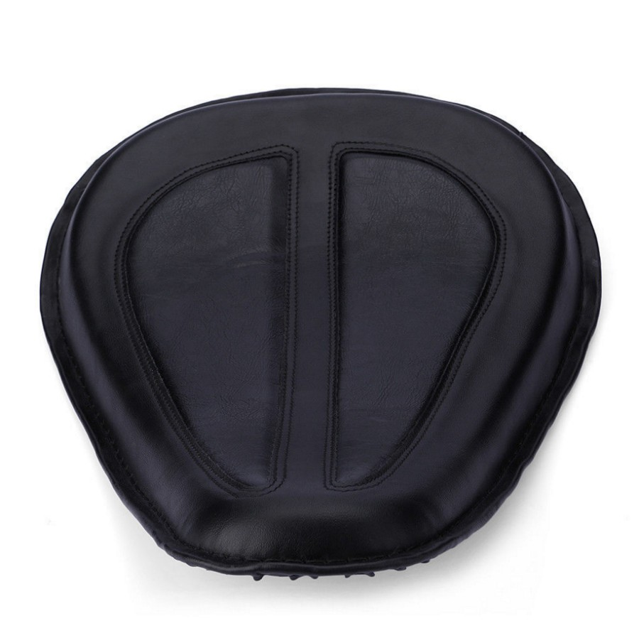 все цены на 2015 Motorcycle Cushion Black Leather Solo Seat Fits For Harley Sportster XL883 1200 48 2004-2014 онлайн